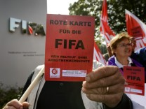Protest gegen Fifa
