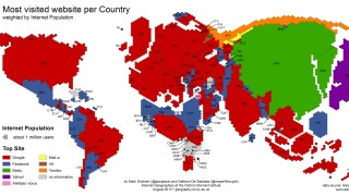Digitalblog Weltkarte des World Wide Web