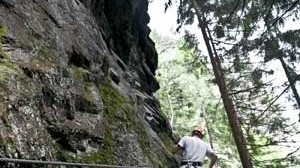 Klettersteig Zimmereben : Klettersteig zimmereben quergang: was recht entspannt aussieht