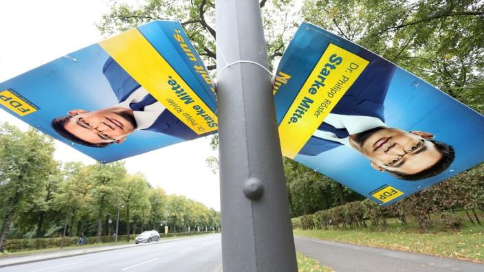 FDP-Plakate nach Bundestagswahl