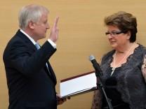 Landtag Bayern - Vereidigung Horst Seehofer