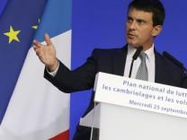 Frankreich: Innenminister Manuel Valls Sozialist Roma