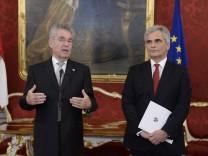 Bundespräsident Heinz Fischer (li.) und Bundeskanzler Werner Faymann Österreich