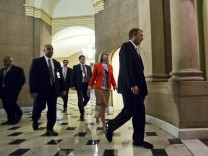 Boehner Walks Through Capitol in Washington DC