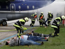 Katastrophenschutzübung auf dem Flugplatz
