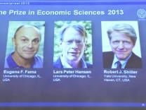 Preisträger des Wirtschafts-Nobelpreises: Eugene Fama, Lars Peter Hansen, Robert Shiller