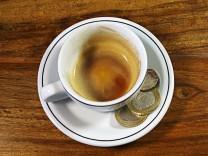Trinkgeld Kaffeetasse