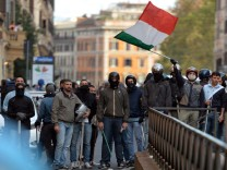 Anti-austerity protest in Rome