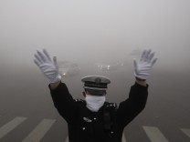 Heavy fog shrouded northeastern China.