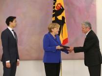 Bundespräsident Gauck entlässt Bundeskabinett