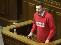 Vitali Klitschko will in der Ukraine Präsident werden