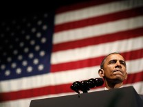 U.S. President Barack Obama delivers remarks at a DNC event at Austin City Limits Moody Theater in Austin, Texas