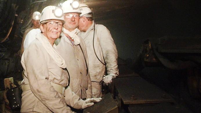 Hannelore Kraft besucht Bergwerk