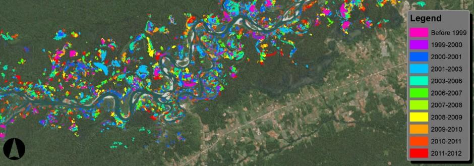 Artenvielfalt Goldsucher in Peru