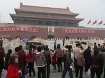 Car accident in Tiananmen Square