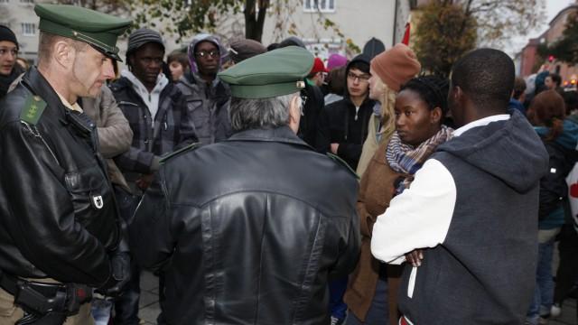 Flüchtlinge in Bayern Asylbewerber protestieren in München