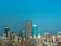 Johannesburg City under the moon; Johannesburg