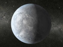 NASA handout of an artist's depiction of Kepler-62e