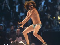 Redfoo performs during the 2013 MTV Europe Music Awards at the Ziggo Dome in Amsterdam