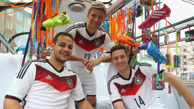 Adidas Unveils New German National Team Kit During Bus Tour