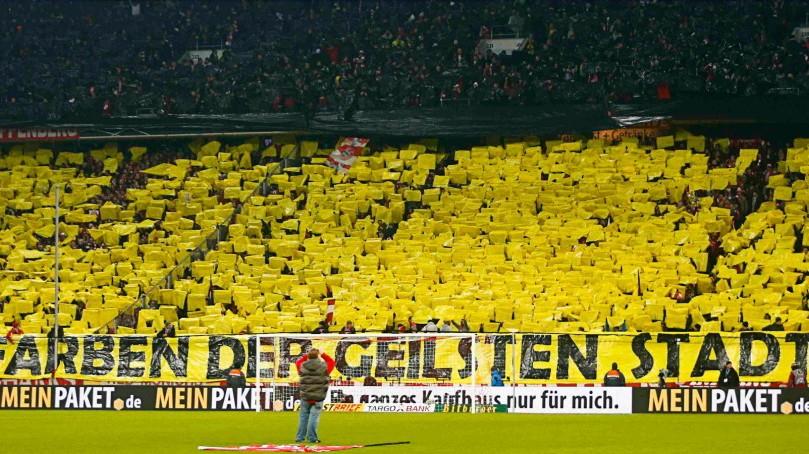 Choreographie FC Bayern BVB Februar 2013
