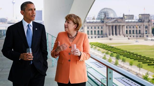 Obama und Merkel in Berlin