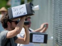 Demonstration gegen NSA-Horchposten bei Darmstadt