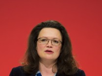 SPD Secretary General Nahles attends SPD party congress in Leipzig