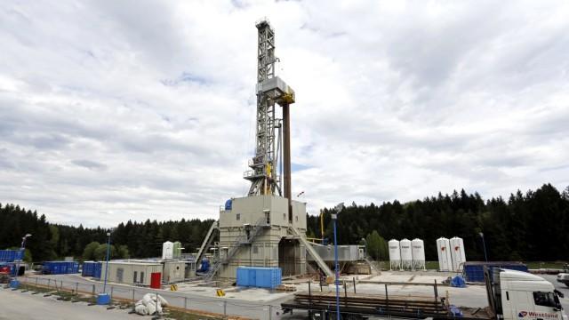 Bohrturm für Geothermie in Gelting
