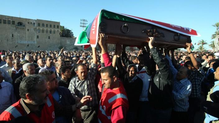 Gewalt in Tripolis, Libyen