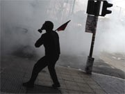 Ausschreitungen in Griechenland, dpa
