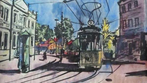 """""""Straßenbahn"""" von Bernhard Kretschmar"""