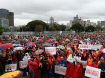 Demonstration in Sydney für mehr Klimaschutz
