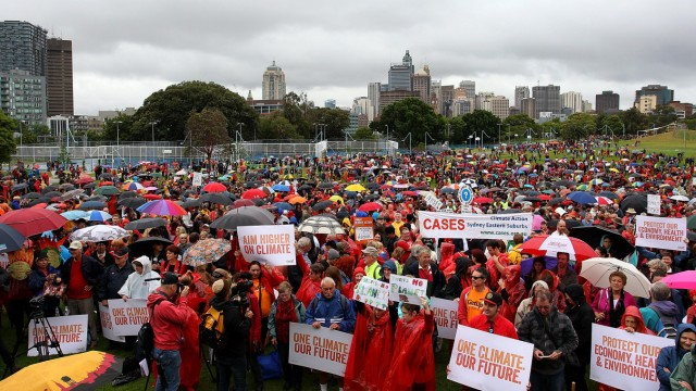 Sydneysiders Rally To Urge Action On Climate Change