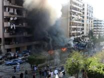 23 Menschen starben bei dem Doppelanschlag nahe der iranischen Botschaft in Beirut.