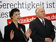 Sahra Wagenknecht; Oskar Lafontaine; Linkspartei; dpa
