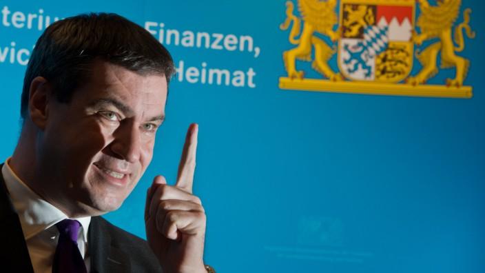 Presse-Konferenz mit Markus Söder