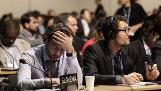 Delegates attend closing session of COP19 in Warsaw
