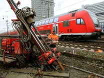 Erkundungsbohrungen am Hauptbahnhof in Essen