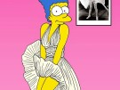Marge Simpson Marilyn Monroe William Travilla Art Cartoon Illustration Satire Sk