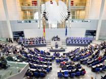 Sondersitzung des Bundestages