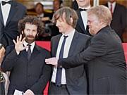 Charlie Kaufman; Spike Jonze and Philipp Seymour Hoffman; AFP