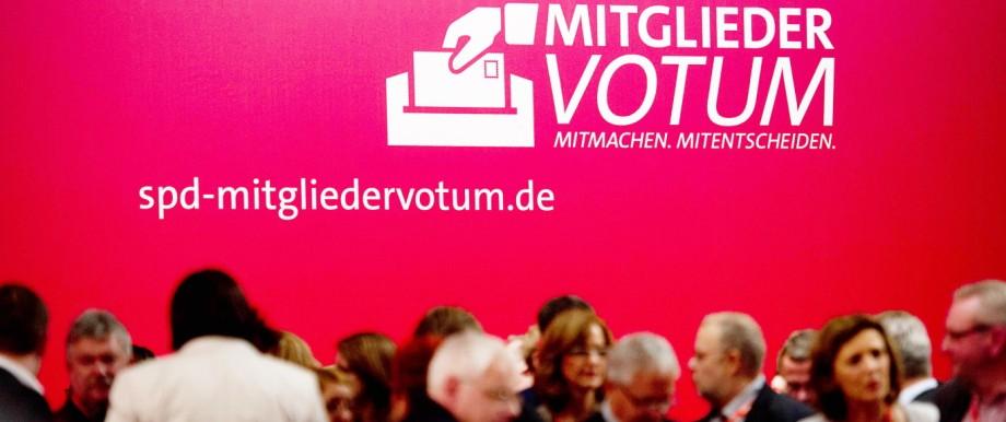 SPD-Mitgliedervotum Mitgliederentscheid der SPD