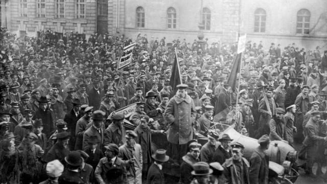 Demonstration des Arbeiterrats in München, 1919
