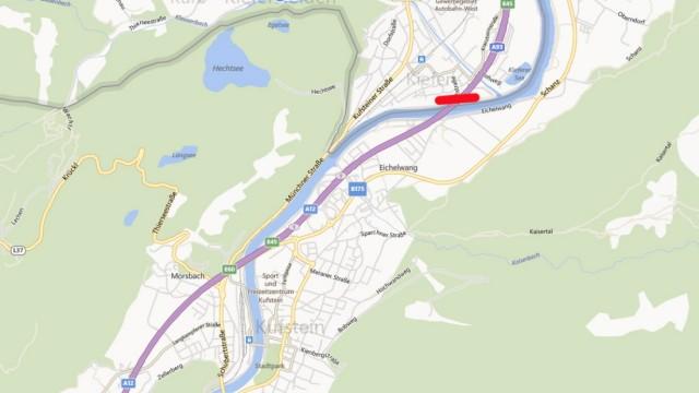 Kufstein in einer Bing-Map.