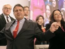 Große Koalition; SPD; Minister; Sigmar Gabriel; Frank-Walter Steinmeier; Andrea Nahles