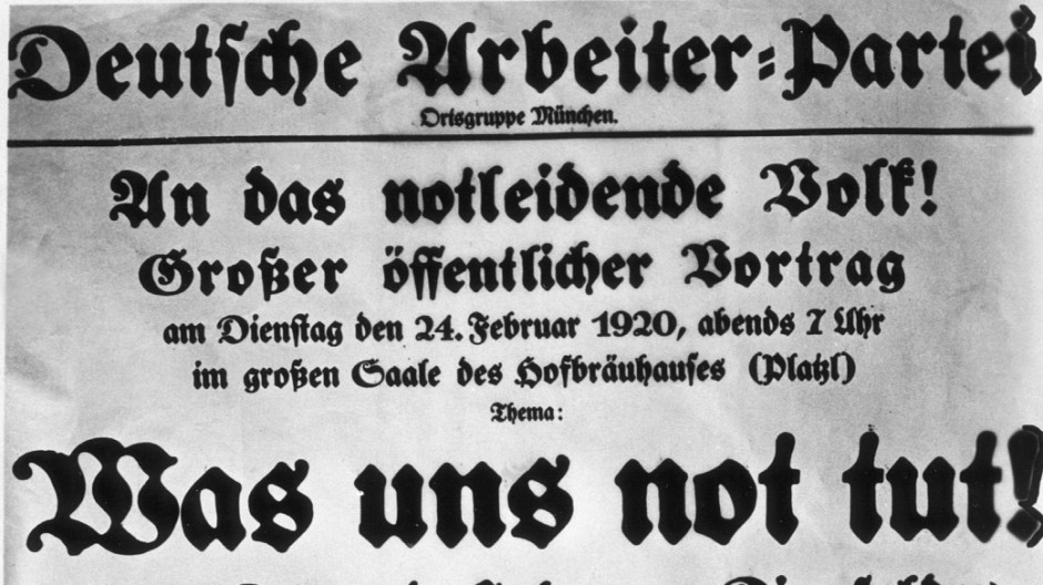 Plakat der NSDAP, 1920