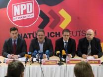 Pressekonferenz der NPD