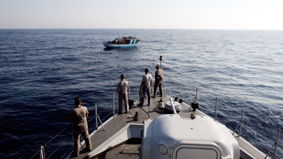 Italian Border Patrols Pick Up Boatloads Of Illegal Immigrants