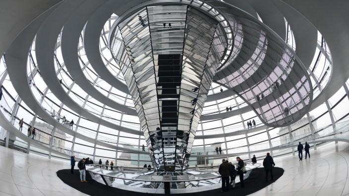 Glaskuppel des Bundestages
